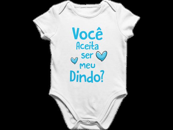 Body Bebê Infantil Você Aceita Ser Meu Dindo