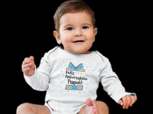 Body Bebê Infantil Feliz Aniversário Papai Presente