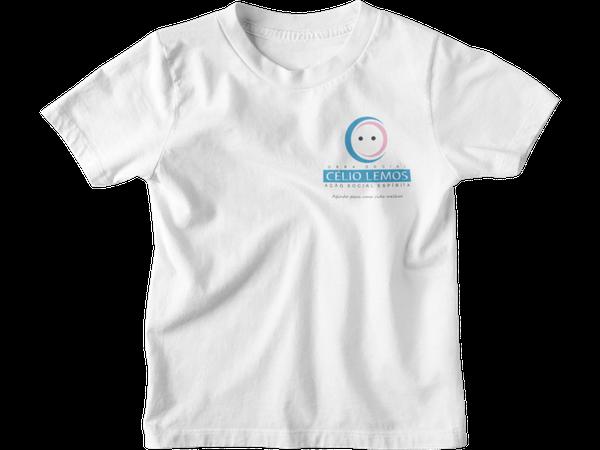 Camiseta Manga Curta Infantil Escola Celio Lemos