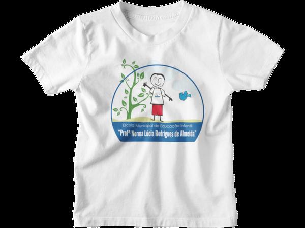 Camiseta Manga Curta Infantil Escola EMEI Profa. Norma Lúcia Rodrigues de Almeida