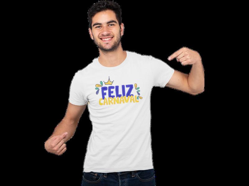 Camiseta Carnaval Bloco Fantasia Feliz Carnaval