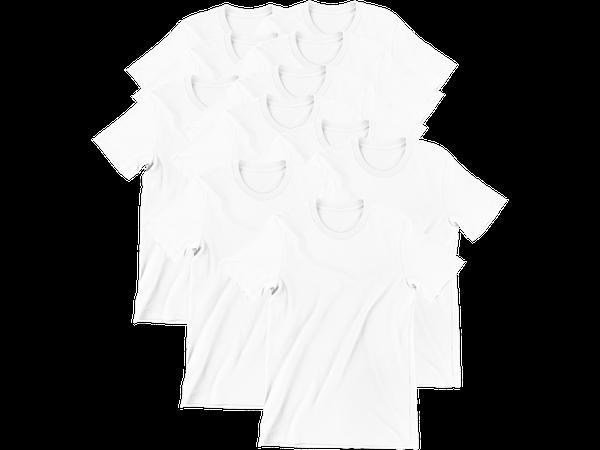 Kit 10 Camiseta Para Sublimação Camisa Malha Blusa Atacado