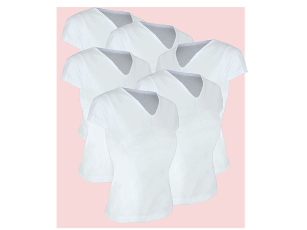 Kit 5 Camiseta Feminina Lisa Adulto