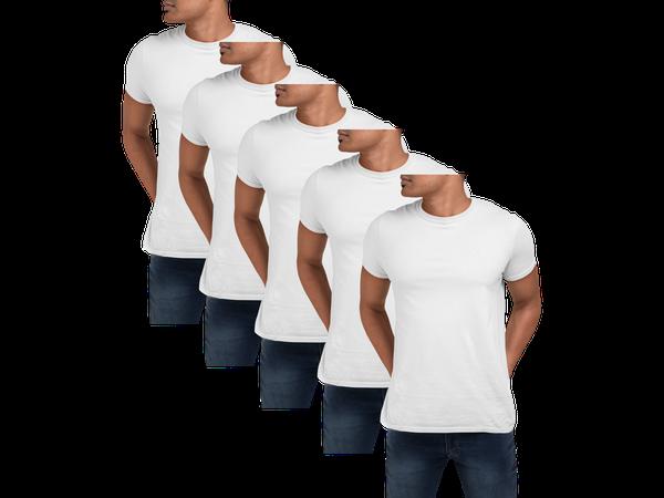 Kit 5 Camiseta Para Sublimação Camisa Malha Blusa Atacado