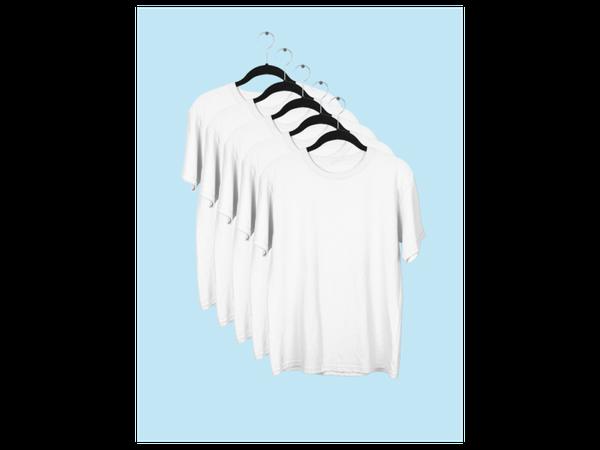 Kit 5 Camisetas Lisa Manga Curta Infantil Poliéster