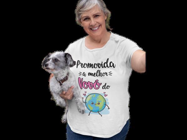 Promovida a Melhor Vovó do Mundo Camiseta Avó