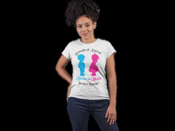 T-Shirt Baby Look Chá Revelação Guardiã do Segredo