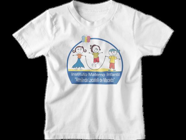 Camiseta Manga Curta Infantil Escola IMI Armilinda Lacatelli de Macedo